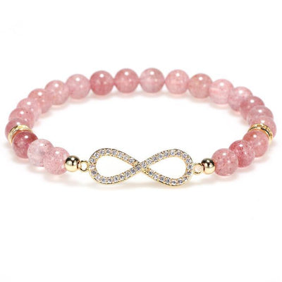 Natural Strawberry Quartz Positivity Healing Bracelet - Limited Edition - Buddha Prayers Shop