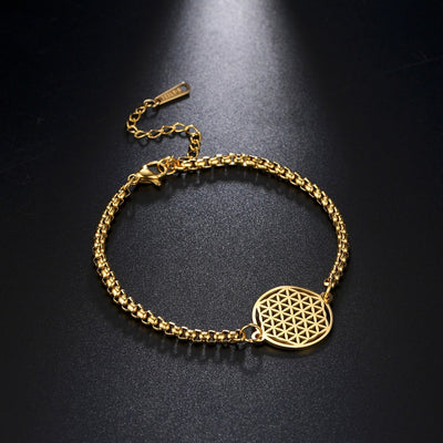 Flower of Life Chain Bracelet