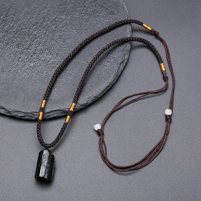Black Tourmaline Healing Stone Necklace