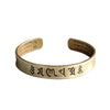 Tibetan Buddhist Mantra Brass Bangle - Inner Manifestation