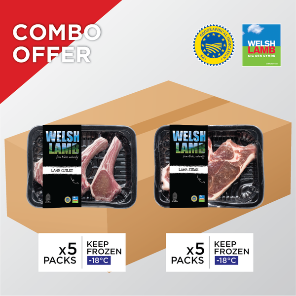 Welsh Lamb Combo - Cutlet and Steak