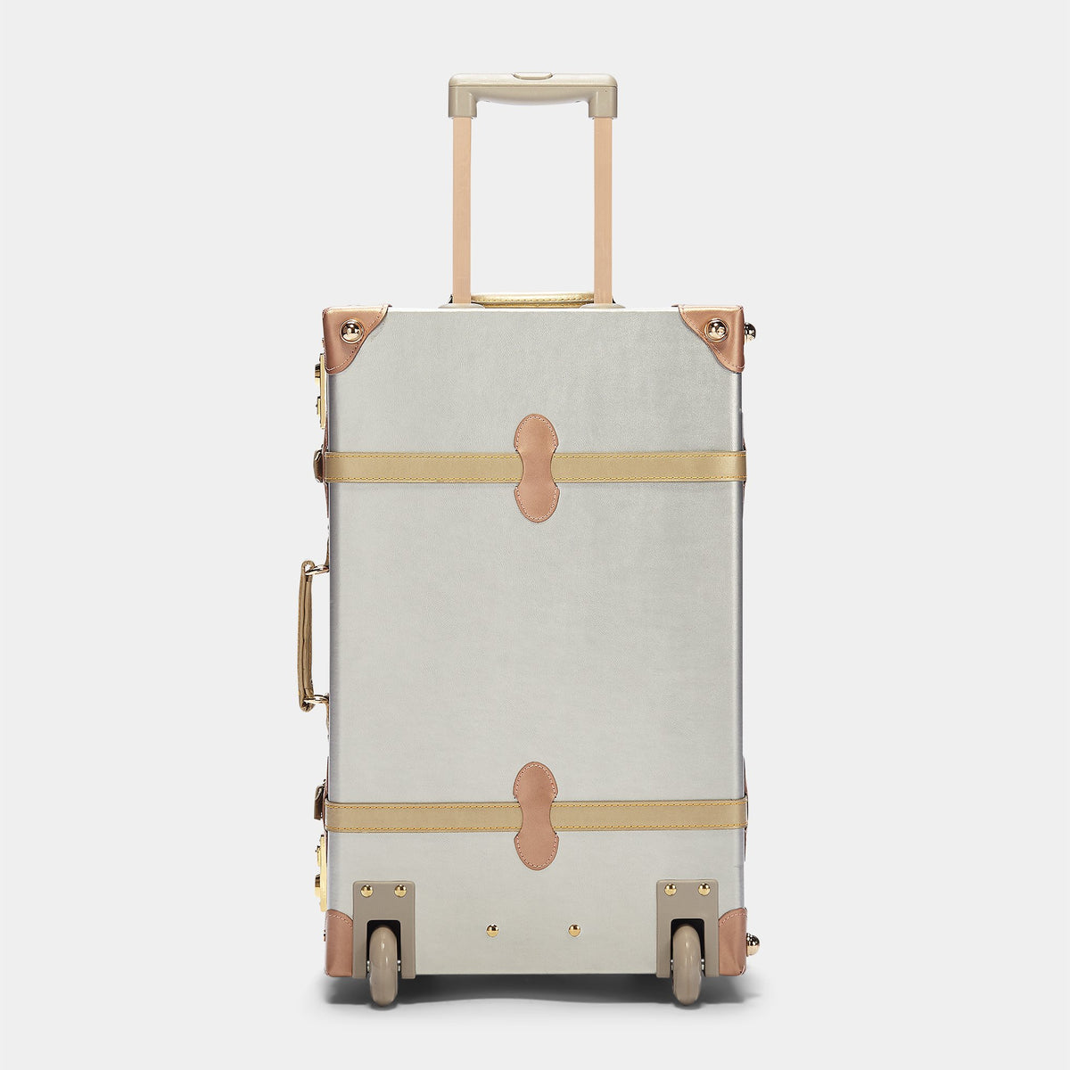 The Alchemist Stowaway - Retro-Style Cabin Luggage - Exterior back with extended handle