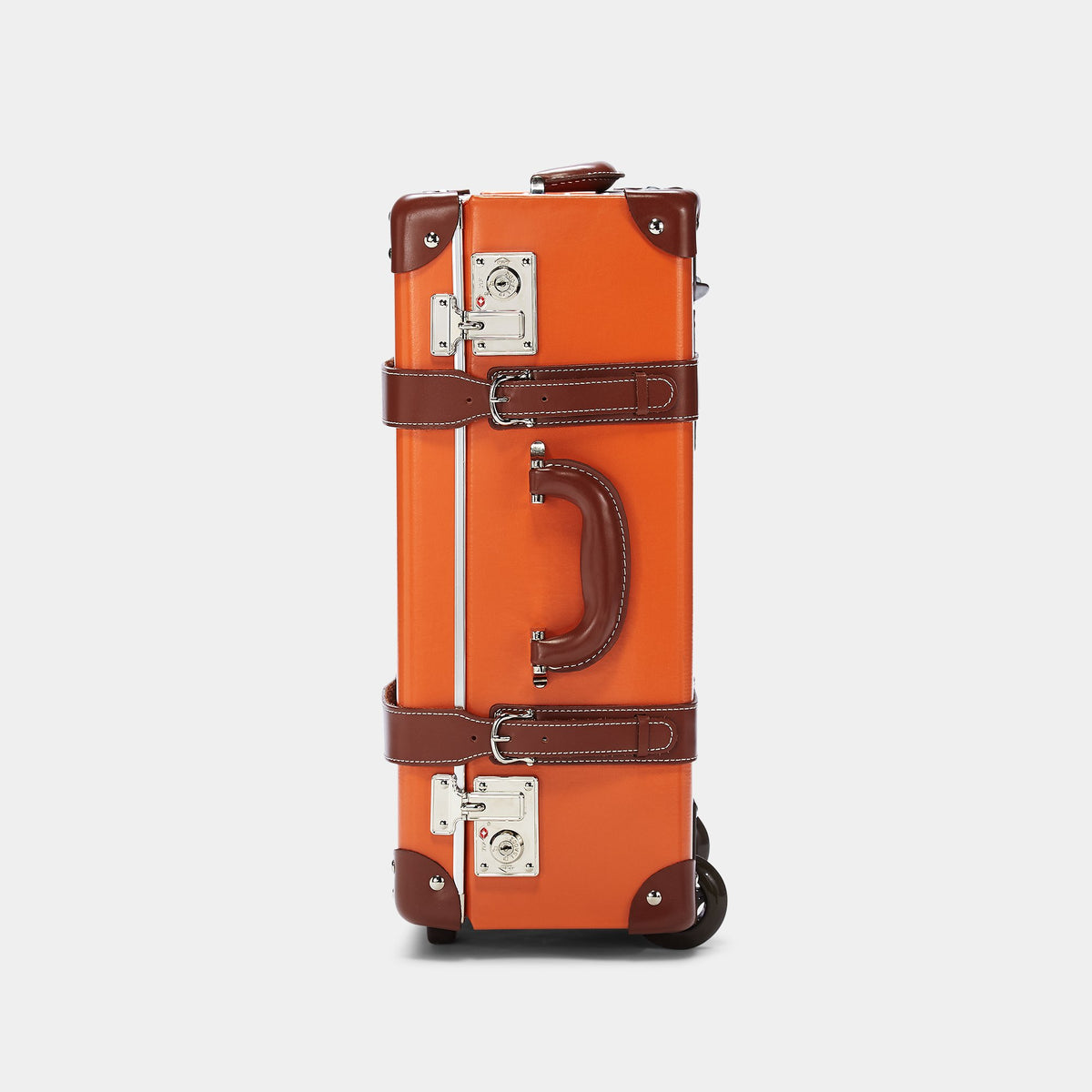 The Anthropologist Carryon in Orange - Vintage Style Leather Case - Exterior Side