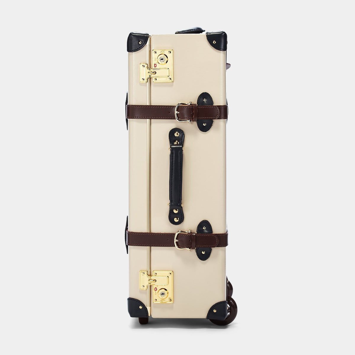 The Architect Stowaway in Cream -Vintage Style Leather Case - Exterior Side