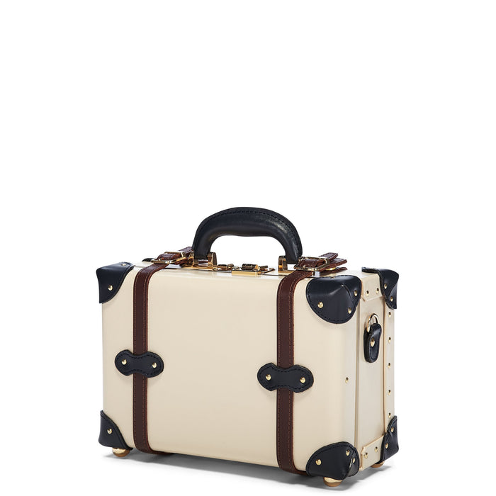 The Architect Vanity in Cream -Vintage Style Leather Case - Exterior Front