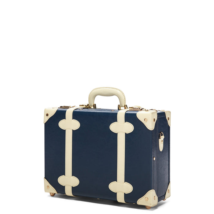 The Entrepreneur Overnighter in Navy - Vintage-Inspired Luggage - Exterior Front