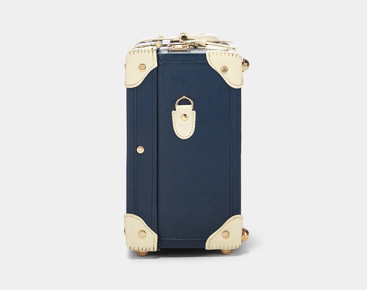 The Entrepreneur Overnighter in Navy - Vintage-Inspired Luggage - Exterior Side