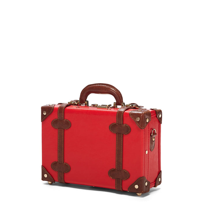 The Entrepreneur Vanity in Red - Vintage-Inspired Vegan Luggage - Exterior Front