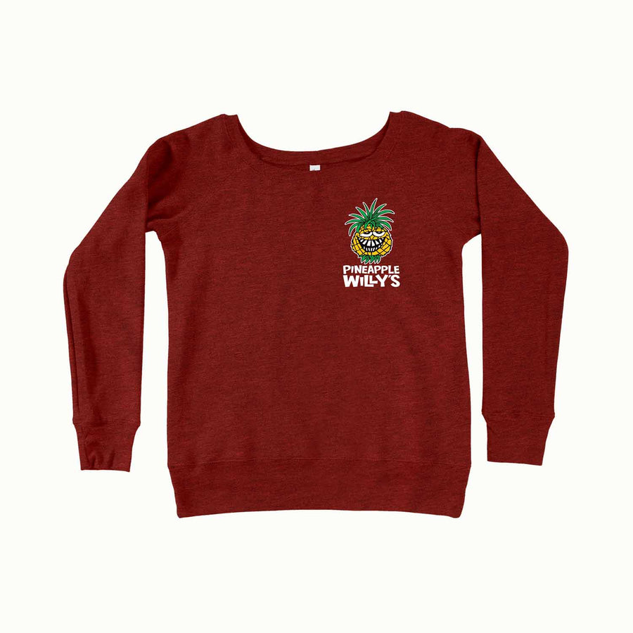 Red Ladies Crewneck Sweater