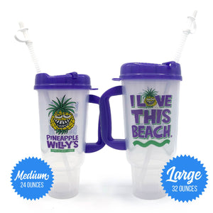 I Love This Beach Daiquiri Cups