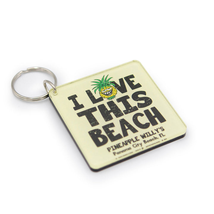 I Love This Beach Keychain