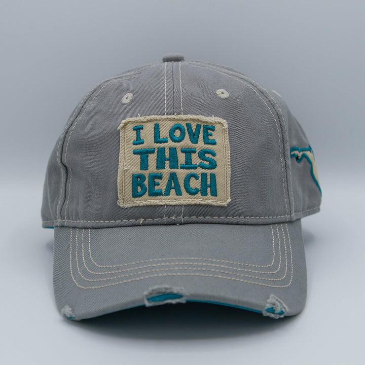 "Gray/Blue ""I Love This Beach"""