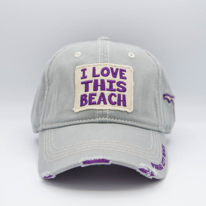 Gray/Purple I Love This Beach Hat