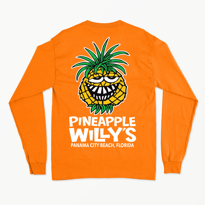 Long Sleeve Neon Orange Face