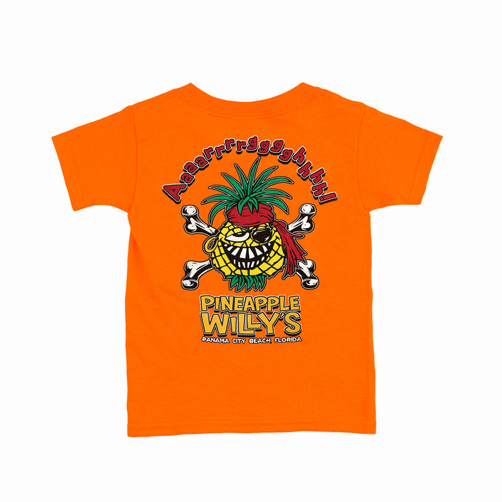 Kids Orange 'Aaargh' Pirate