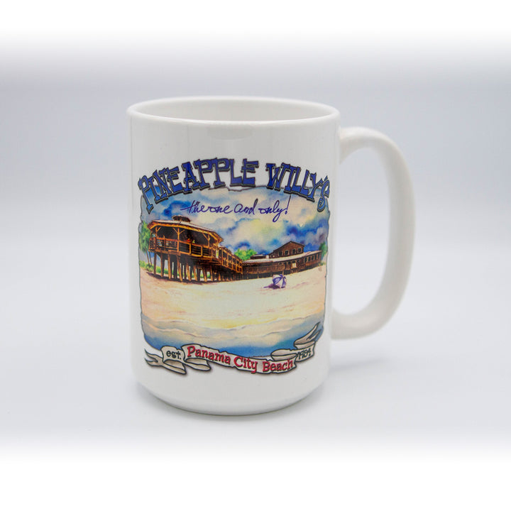 Pineapple Willy's Watercolor Pier Mug