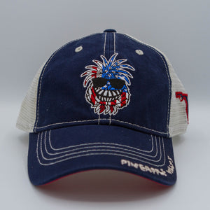 Pineapple Willy's American Flag Hat