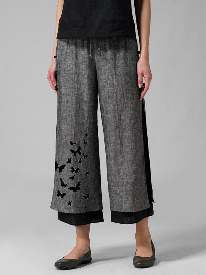 Animal Casual Cotton-Blend Pants
