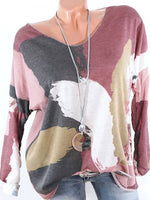 Holiday Patchwork Long Sleeve Shirts & Tops
