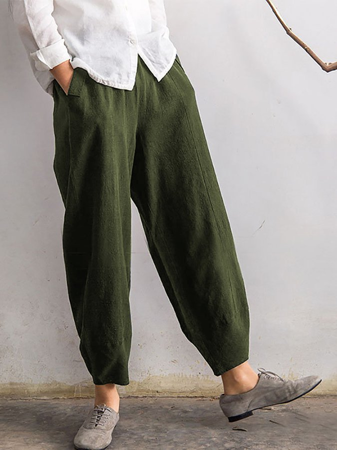 Cotton Shift Pants