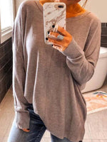 Long Sleeve Round Neck Vintage Sweater