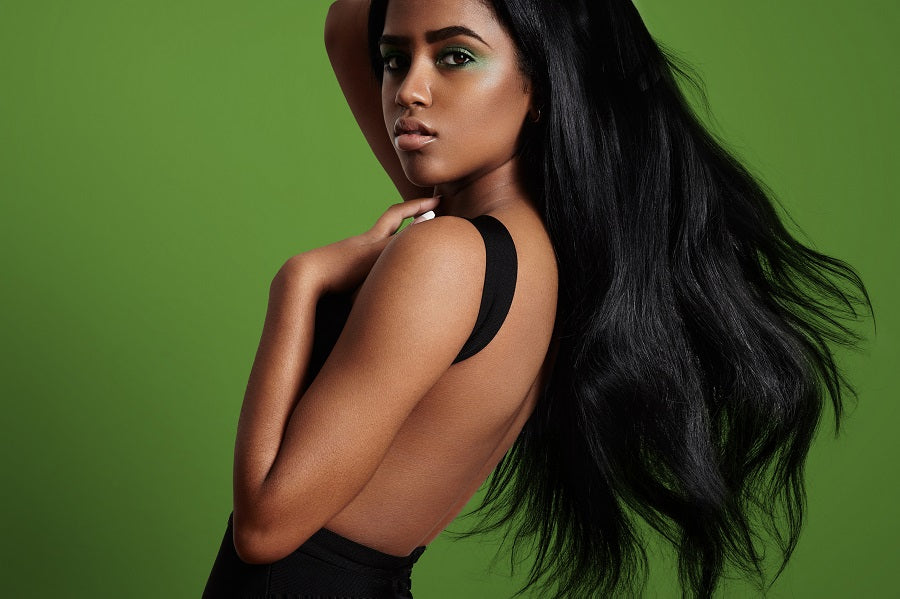 African American Woman with Brazilian Hair Extension