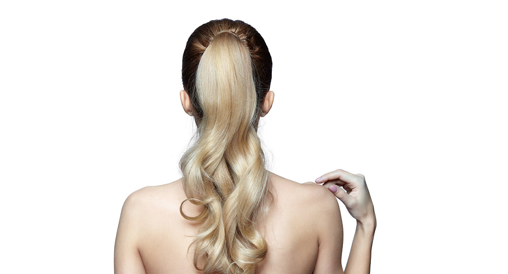 Lady with Long Blond Ponytail