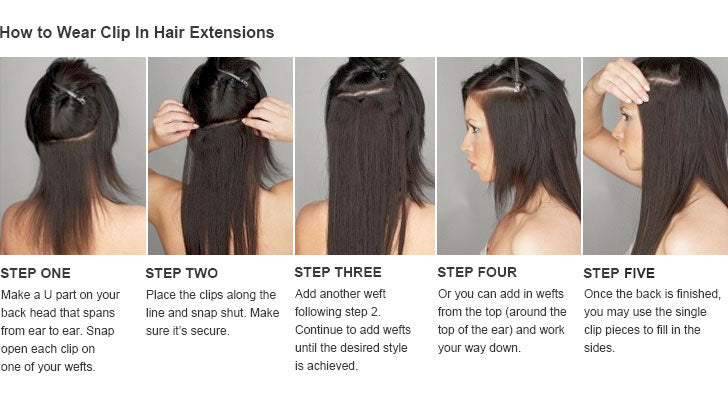 How to install hair clip ins