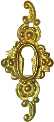Cast Brass Keyhole Cover with Polished Finish KH-124