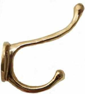 Cast Brass Hook HK-101-Antique Hardware & More LLC
