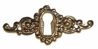 Cast Brass Keyhole Cover or Escucheon KH-102-Antique Hardware & More LLC