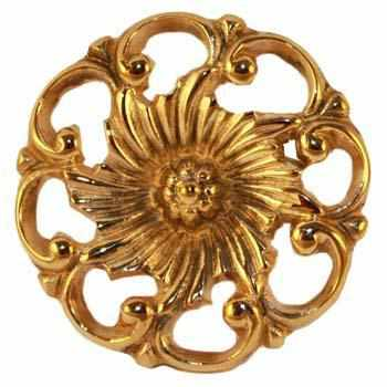 Cast Brass Knob Available in Two Sizes-Antique Hardware & More LLC