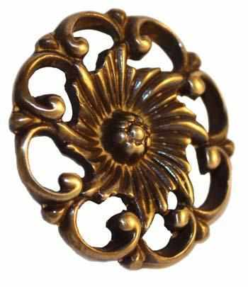 Cast Brass Knob with Antique Finish - 2 Sizes-Antique Hardware & More LLC