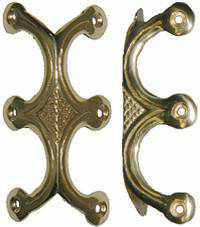 Cast Brass Ornate Trunk Edge Clamp or Knee Clamp T-203-Antique Hardware & More LLC