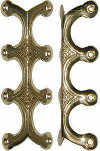 Cast Brass Trunk Edge Clamp T-204-Antique Hardware & More LLC