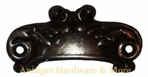 Cast Iron Scroll Bin Pull with Vintage Finish BP-103-Antique Hardware & More LLC