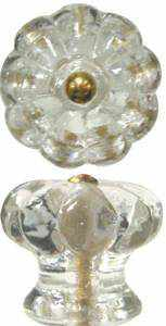 CLear Glass Knob - GK-120-Antique Hardware & More LLC