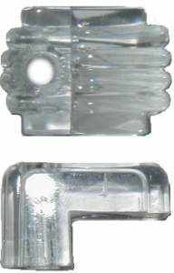 Clear Plastic Mirror Clip MIR-110-Antique Hardware & More LLC