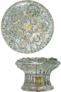 Colonial Floral Glass Knob - GK-102-Antique Hardware & More LLC