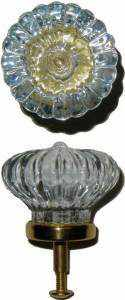 Colonial Glass Knob GK-104-Antique Hardware & More LLC