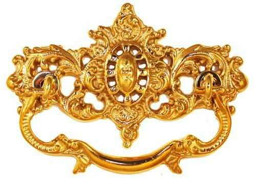 DP-116 Victorian Drawer Pull in Polished Brass-Antique Hardware & More LLC