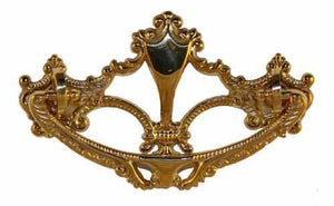 DP-118 Cast Brass Victorian Drawer Pull-Antique Hardware & More LLC