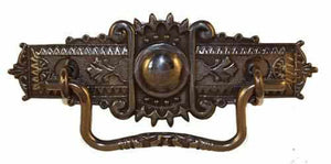 DP-124D Eastlake Drawer Pull in Antique Finish-Antique Hardware & More LLC