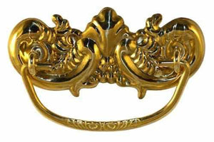 DP-126 Stamped Brass Victorian Drawer Pull-Antique Hardware & More LLC