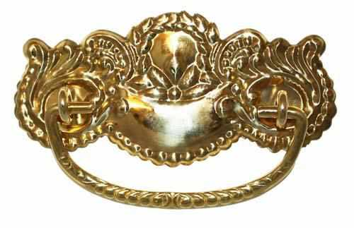 DP-128 Stamped Brass Drawer Pull-Antique Hardware & More LLC