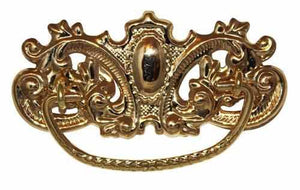 DP-129 Stamped Brass Drawer Pull with Polished Finish-Antique Hardware & More LLC