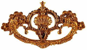 DP-144 Cast Brass Victorian Drawer Pull-Antique Hardware & More LLC
