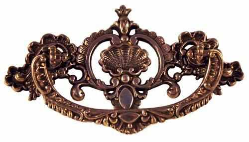 DP-144D Cast Brass Drawer Pull in an Antique Finish-Antique Hardware & More LLC