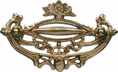 DP-194 Victorian Brass Drawer Pull with 3