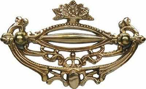 "DP-194 Victorian Brass Drawer Pull with 3"" Center-Antique Hardware & More LLC"
